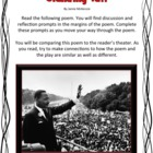 Martin Luther King Poem and Play Comparison Activity