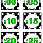 Black Polka Dot Theme (bin labels, clock minutes, months,
