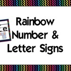 Black Rainbow Alphabet &amp; Numbers