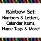 Black Rainbow Classroom Set 2 {Alphabet, Numbers, Calendar, etc}