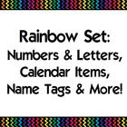 Black Rainbow Classroom Set {Alphabet, Numbers, Calendar, etc}