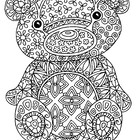 Black &amp; White Detailed Bear Coloring Sheet