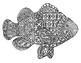 Black &amp; White Detailed Fish Coloring Sheet