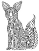 Black &amp; White Detailed Fox Coloring Sheet