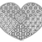 Black & White Detailed Heart