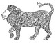Black &amp; White Detailed Lion Coloring Sheet