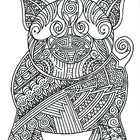 Black & White Detailed Pig Coloring Sheet