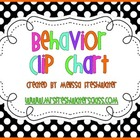 Black &amp; White Polka Dot Behavior Clip Chart