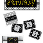 Black & White Polka Dot Calendar Pack