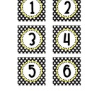 Black & White Polka Dot Numbers - Small