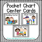 Black & White Polka Dots Pocket Chart  Center Cards