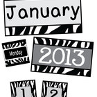 Black & White Zebra Calendar Pack