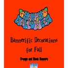 Black and Orange Halloween or Fall Banners