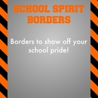Black and Orange - School Spirit Borders 4 Pack