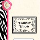 Black and Pink Zebra Printable and Power Point Slides for