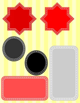 Black and Red All Over- Frames, Borders, and Accents