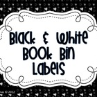 Black and White Book Bin Labels
