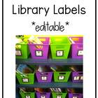 Black and White Classroom Library Label Pack!