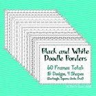 Black and White Doodle Borders