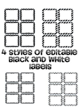 Black and White Labels Variety Pack