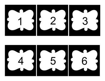 Black and White Number Tags