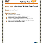 Black and White Play-Dough Activity