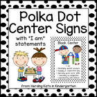 Black and White Polka Dot  Center Signs