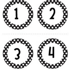 Black and White Polka Dot Numbers
