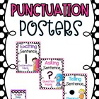 Black and White Polka Dot Punctuation Posters