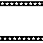 Black and White Star Frame Clip Art Graphic