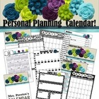 Black and White Themed 2013-2014 Personal Planning Calendar