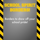 Black and Yellow / Gold - School Spirit Borders 9 Pack