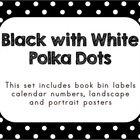 Black with White Polka Dots (Editable)