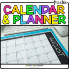 Blank Calendar Planner - Monthly and Weekly