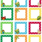 Blank Calendar Squares - Beach Theme