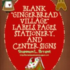 "Blank ""Gingerbread Village"" Labels, Pages, Stationery, and"