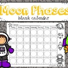 Blank Moon Phases Calendar Freebie