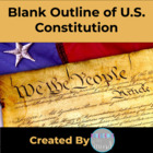 Blank Outline of US Constitution