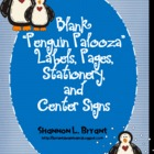 Blank Penguin Palooza Labels, Pages, Stationery, and Center Signs