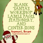 "Blank ""Santa's Workshop"" Labels, Pages, Stationery, and Ce"