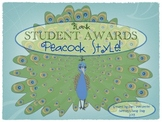 Blank Student Awards: Peacock Style!