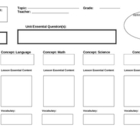 Blank Unit Map Organizer for Lesson Concept Essentials