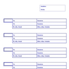 Blank Verb Charts--Very Handy!  Special Box for Infinitives!