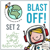 Blast Off! Sight Word Activity Pack {No. 2}