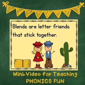 Blends Are Letter Friends for the Smart Board, IWB, or Computer
