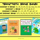 Blends Bundle: Word Work Literacy Stations (S, L, R & Fina
