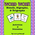 Blends, Digraphs,  &amp; Trigraphs Pack
