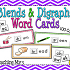 Blends & Digraphs Word Cards