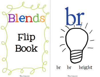Blends Flip Book chants to practice beginning blends