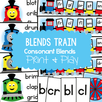 Blends Train Games Pack - Phonics Reading Resource